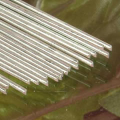 Painted Floral Stem Wire - White