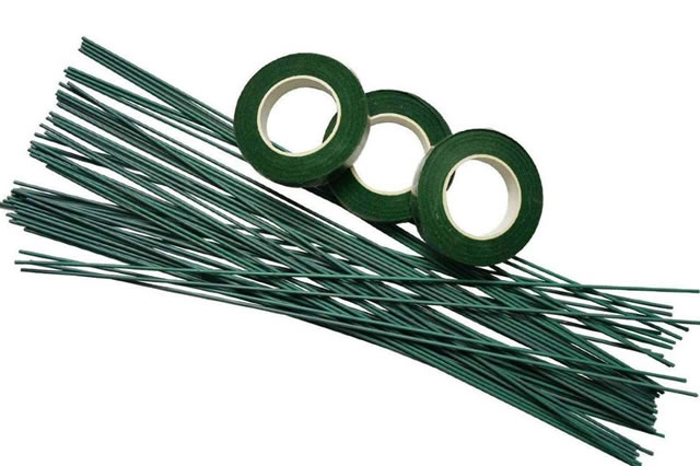 16g green floral wire